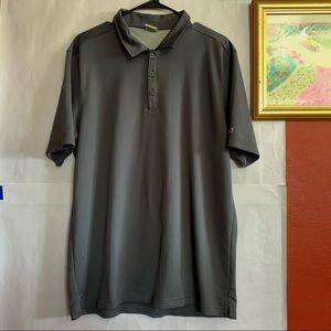 Men's Alo cool fit short sleeve gray polo XL